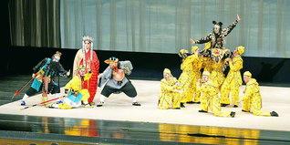 文化交流こそ、万代の友好のための基盤――演目「西遊記・金銭豹」のフィナーレ(旭川市民文化会館で)