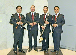 関西大会出場を決めた関西吹奏楽団のクラリネット四重奏