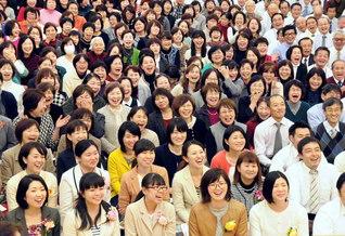 「田原坂」を合唱した師弟の原点から35周年。記念の熊本総会を晴れ晴れと(熊本平和会館で)