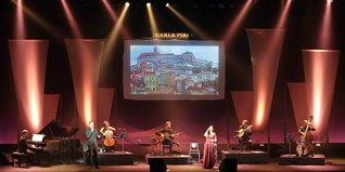 「カルラ・ピレス」の民音公演(東京・中野サンプラザホールで)