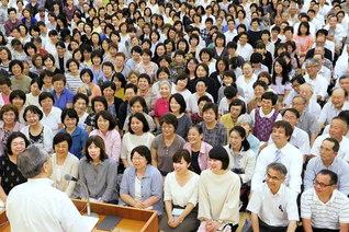 確信の祈りで勇気の心を燃え上がらせ、新たな師弟の共戦譜を! 東京・調布総区の友が意気軒高に(調布文化会館で)