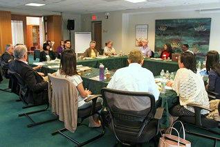 北米各地からボストン近郊の池田センターに集って行われたセミナー。終日、活発な議論が交わされた