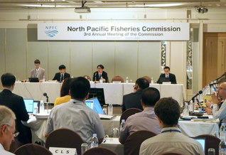 札幌市で行われた北太平洋漁業委員会の年次会合(2017年7月)
