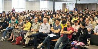 世界広布へ船出したオセアニアの教学研修会。2日目の一般講義には300人以上の友が集った(ビクトリア会館で)