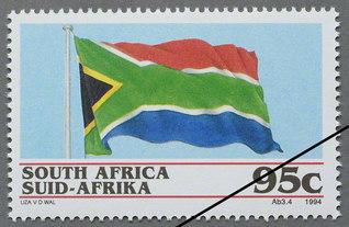 新生・南アフリカの国旗(1994年)