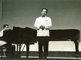 舞台での中山悌一氏(1966年9月)