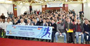 広布の黄金柱たる誓いを強めたチリ壮年部の総会