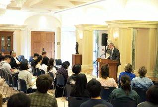 「平和の文化と非暴力」会議では、IPPNWのヘルファンド共同会長が講演(アメリカ創価大学で)