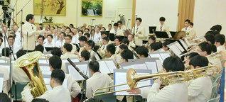 本年6月の関東総会で、関東音楽隊が力強く(千葉・船橋池田講堂で)