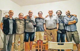 ヌォーヴォ・サラーリオ支部ミヌッチャーノ地区の壮年部メンバーと共に(首都ローマで)