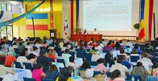 世界各地で活発に展開される教学運動。仏法史上、未曽有の出来事をSGIが成し遂げた(中米パナマ)