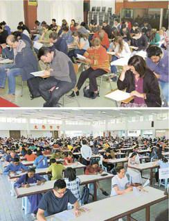 どこまでも御書根本に前進! 世界中で実施される任用試験(上からチリ、マレーシア)