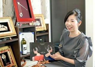銀製かんざしアーティスト 居野家華枝さん