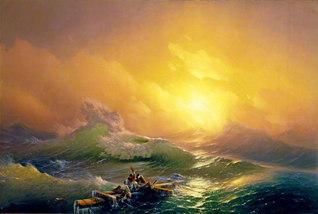 イワン・アイヴァゾフスキー「第九の怒濤」1850年 油彩/カンヴァス 221×332センチ 国立ロシア美術館蔵