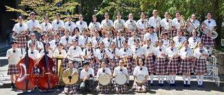 真心の旋律を奏でた関西創価中学校の吹奏楽部(尼崎市で)
