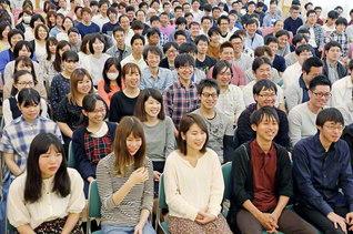 地域の幸福責任者に! 躍進を誓い合った山光青年部の大会(19日、鳥取・米子文化会館で)