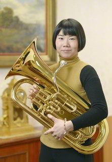 ユーフォニアム奏者の佐藤采香さん。金管楽器の最高峰といわれるリエクサ国際コンクール(フィンランド)で優勝し、世界から注目されている