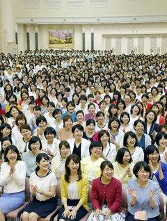 47都道府県から友が集い、東京牧口記念会館で開かれた「全国白蓮グループ大会」(1日)